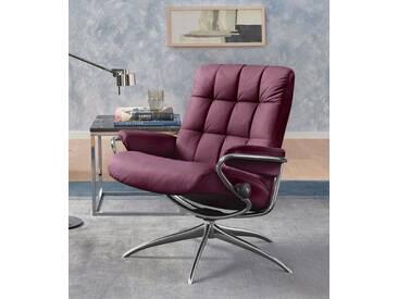 Stressless® Relaxsessel »London«, mit Star Base, in 2 Höhen, mit Relax-Funktion, lila, Standard Base, purple plum