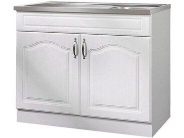 wiho Küchen Wiho Küchen Spülenschrank »Lausanne«, B/T/H: 100/60/85 cm, weiß, weiß
