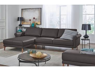 Hülsta Sofa hülsta sofa Polsterecke »hs.450« im modernen Landhausstil, Breite 262 cm, braun, Recamiere links, graubraun