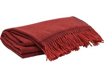 Gant Wolldecke »Scribble«, aus Merinowolle, rot, mahogny red