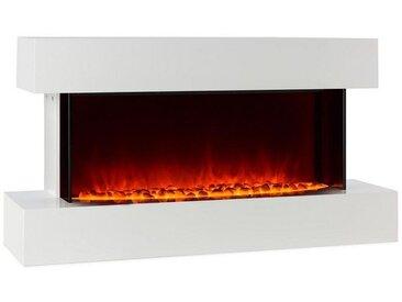 Klarstein Elektrischer Kamin LED-Flammensimulation 1000/2000W 40m² weiß »Studio 2«, weiß, weiß