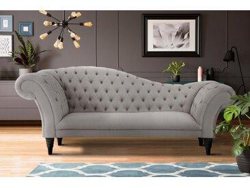 Home affaire 3-Sitzer »Chester«, mit Knopfheftung in Recamieren-Optik, grau, hellgrau