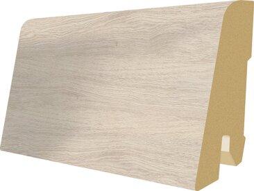 EGGER Sockelleiste »L547 - Monfort Eiche weiss«, 6 cm Sockelhöhe, 240 cm Länge, weiß, weiß