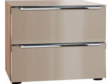 nolte® Möbel Nachttisch»Alegro Style«, Breite 50 cm, braun, eiche/Glas samtbraun, braun
