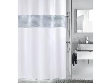 Kleine Wolke KLEINE WOLKE Duschvorhang »Twin«, Breite 180 cm, weiß, weiß/silber