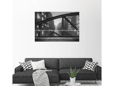 Posterlounge Wandbild - Dennis Siebert »Auf dem Kibbelsteg«, grau, Holzbild, 90 x 60 cm, grau