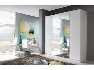 rauch PACK´S Kleiderschrank »Freiham«, mit Spiegel, weiß, Breite 181 cm, 4-türig, weiß