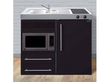 Stengel Miniküche »MPM 100« aus Metall in der Farbe Schwarz Matt, Breite 100 cm, schwarz