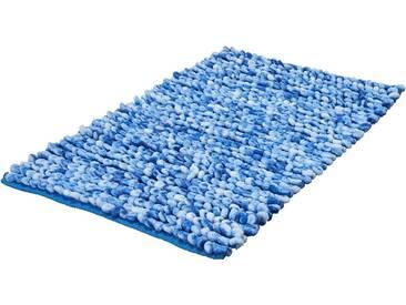 Kleine Wolke Badematte »Marseille« , Höhe 24 mm, rutschhemmend beschichtet, fußbodenheizungsgeeignet, blau, 24 mm, königsblau