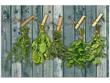 Artland Küchenrückwände »Team 5: Kräuter mit Holzoptik«, grün, 60x90 cm, Grün