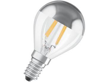 Osram LED Retrofit CLASSIC P Mirror Lampe, LED-Lampe »ST CLAS P 34 4 W/827 E14«, silberfarben, silber