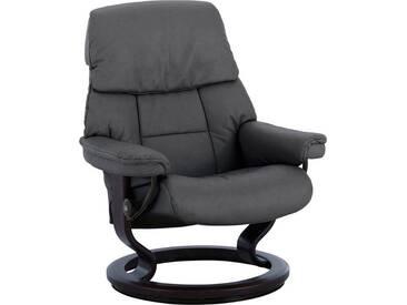 Stressless® Relaxsessel »Ruby« mit Classic Base, Größe S, mit Schlaffunktion, grau, Fuß wengefarben, rock