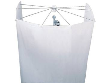 Kleine Wolke KLEINE WOLKE Duschvorhang »Spider«, Breite 200 cm, weiß, weiß