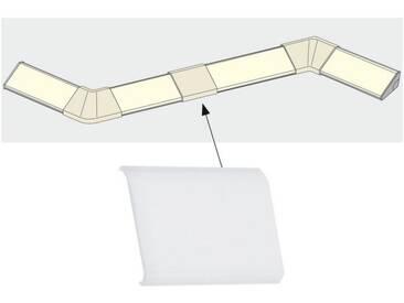 Paulmann LED-Streifen »Delta Profil Cover 4er Pack Satin, Kunststoff«, weiß, weiß