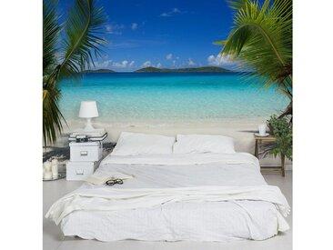 Bilderwelten Vliestapete Premium Breit »Perfect Maledives«, blau, 190x288 cm, Blau