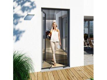 WINDHAGER Insektenschutz-Vorhang BxH: 100x220 cm, anthrazit, 100 cm x 220 cm, 100 cm x 220 cm, Türen