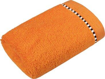 Esprit Gästehandtuch »Box Solid«, mit Bordüre, orange, Webfrottier, mandarin