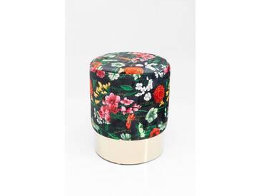 KARE Design Hocker »Cherry Flores«, goldfarben, Maße (H/Ø): 42/35 cm, goldfarben
