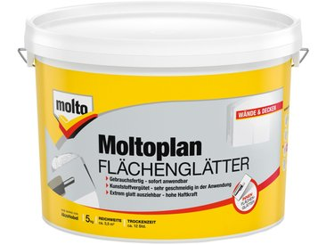 Molto MOLTO Fertigspachtel »Flächenglätter Moltofill«, weiß, 5 kg, weiß, weiß