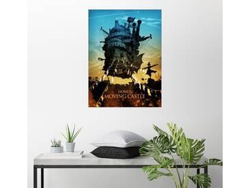 Posterlounge Wandbild - Albert Cagnef »Howl's Moving Castle 2«, bunt, Holzbild, 120 x 160 cm, bunt