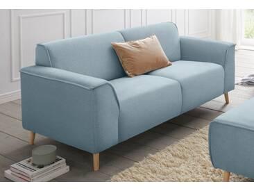 andas 2,5-Sitzer »Janek« mit Federkern und Keder in scandinavischem Design, blau, lichtblau