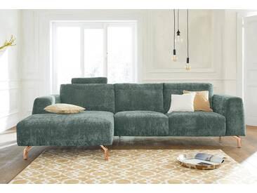 Guido Maria Kretschmer Home&Living GMK Home & Living Polsterecke »Logge«, grün, Recamiere links, mit Messingfüßen, mint