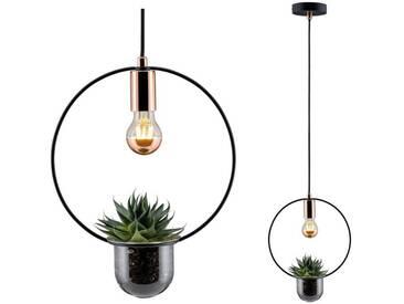 Paulmann LED Pendelleuchte »Tasja Schwarz/Kupfer 1-flammig Pflanzenleuchte«, 1-flammig, schwarz, 1 -flg. /, kupfer-schwarz
