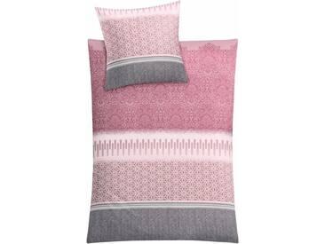 Kleine Wolke Bettwäsche »Estrella«, mit Muster, rosa, 1x 155x220 cm, Mako-Satin, rosa
