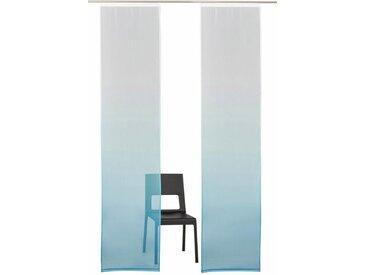 my home Schiebegardine »Fada«, Klettband (2 Stück), Ohne Montagezubehör, blau, Klettband, transparent, blau