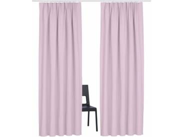 Guido Maria Kretschmer Home&Living Vorhang »Garden Solid«, Multifunktionsband (2 Stück), rosa, Multifunktionsband, transparent, rosé