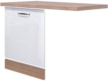 Flex-Well Spülenschrank »Geschirrspülerpaket Florenz, 3er-Set«, weiß, weiß glanz