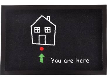 HANSE Home Fußmatte »Standort«, rechteckig, Höhe 7 mm, rechteckig, schwarz, 7 mm, schwarz