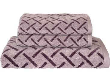 Dyckhoff Handtuch Set, »Stripes«, mit Muster und Bordüre versehen, lila, 3tlg.-Set (siehe Artikeltext), flieder