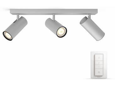 Philips Hue LED Deckenstrahler »Buratto«, 3-flammig, Smart Home, silberfarben, 3 -flg. /, silberfarben