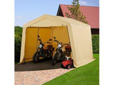 KONIFERA Folien-Gerätehaus BxTxH: 300x300x240 cm, natur, beige