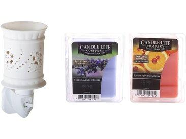 Candle-lite™ Duftlampe »Sophie« (Set, Nachtlicht inklusive 2x Duftwachswürfel), Elektronisches Duftlampen-Set, weiß, weiß