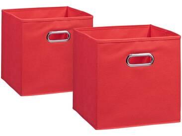 Zeller Present ZELLER Aufbewahrungsbox »2er Set«, 28 x 28 cm, rot, rot