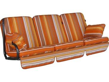 Angerer Freizeitmöbel ANGERER FREIZEITMÖBEL Hollywoodschaukelauflage »Comfort«, (L/B): 177x180 cm, orange, 1 Auflage, orange/weiß