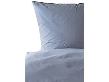Casa di Bassi Bettwäsche »BASIC SOFT TOUCH«, ÖkoTex 100 Standard 100, blau, 1x 220x240 cm, Baumwolle, indigo