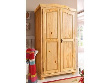 Home affaire Kleiderschrank, natur, 2-türig, Breite 104 cm, ohne Aufbauservice, ohne Aufbauservice, natur