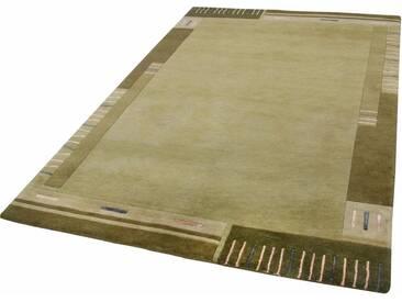 THEKO Teppich »Vancouver wool«, rechteckig, Höhe 20 mm, von Hand geknüpft, grün, 20 mm, grün