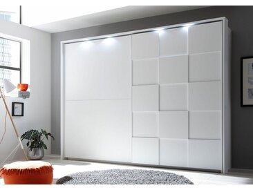 LC Schwebetürenschrank »Ottica«, weiß, Breite 220 cm, 2-türig, weiß/weiß