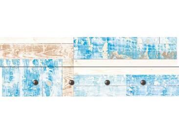 Artland Wandgarderobe »Jule: Maritimes Holz«, blau, 30 x 90 x 2,8 cm, Blau