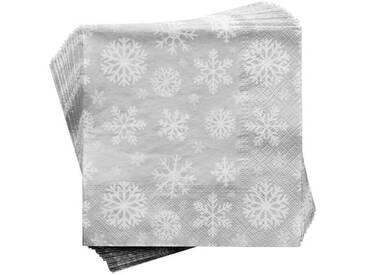 BUTLERS APRÈS »Papierserviette Schneeflocke«, Länge 33 x Breite 33 cm,