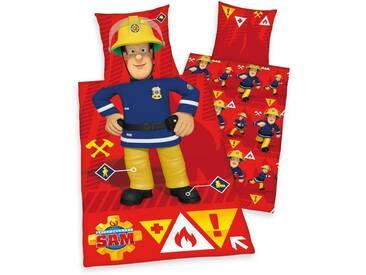 Feuerwehrmann Sam Kinderbettwäsche »Feuerwehrmann«, mit Motiv, rot, 1x 135x200 cm, Renforcé, rot