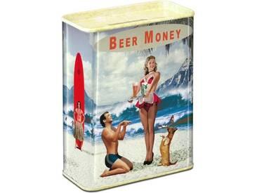 LOGOSHIRT Spardose im Beer Money-Design, bunt, farbig