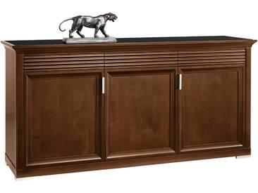 SELVA Sideboard »Luna« Modell 7231, mit dekorativen Fräsungen, braun, nussbaumfarbig antik