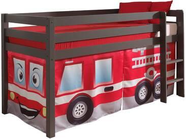 Vipack Hochbett, Furniture, bunt, Taupe lackiert, Feuerwehr