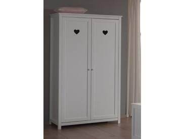 Vipack Furniture Kleiderschrank »Amori«, weiß, Breite 110 cm, 2-trg., weiß