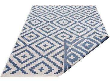 my home Teppich »Ronda«, rechteckig, Höhe 5 mm, In- und Outdoor geeignet, Sisaloptik, Wendeteppich, blau, 5 mm, blau